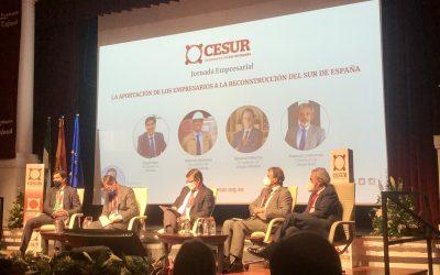 """Jornada empresarial """"Los Fondos Europeos para la reconstrucción del sur de España"""" organizada por CESUR."""