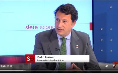 Pedro Jiménez en el programa Siete Economía de 7TV Andalucía